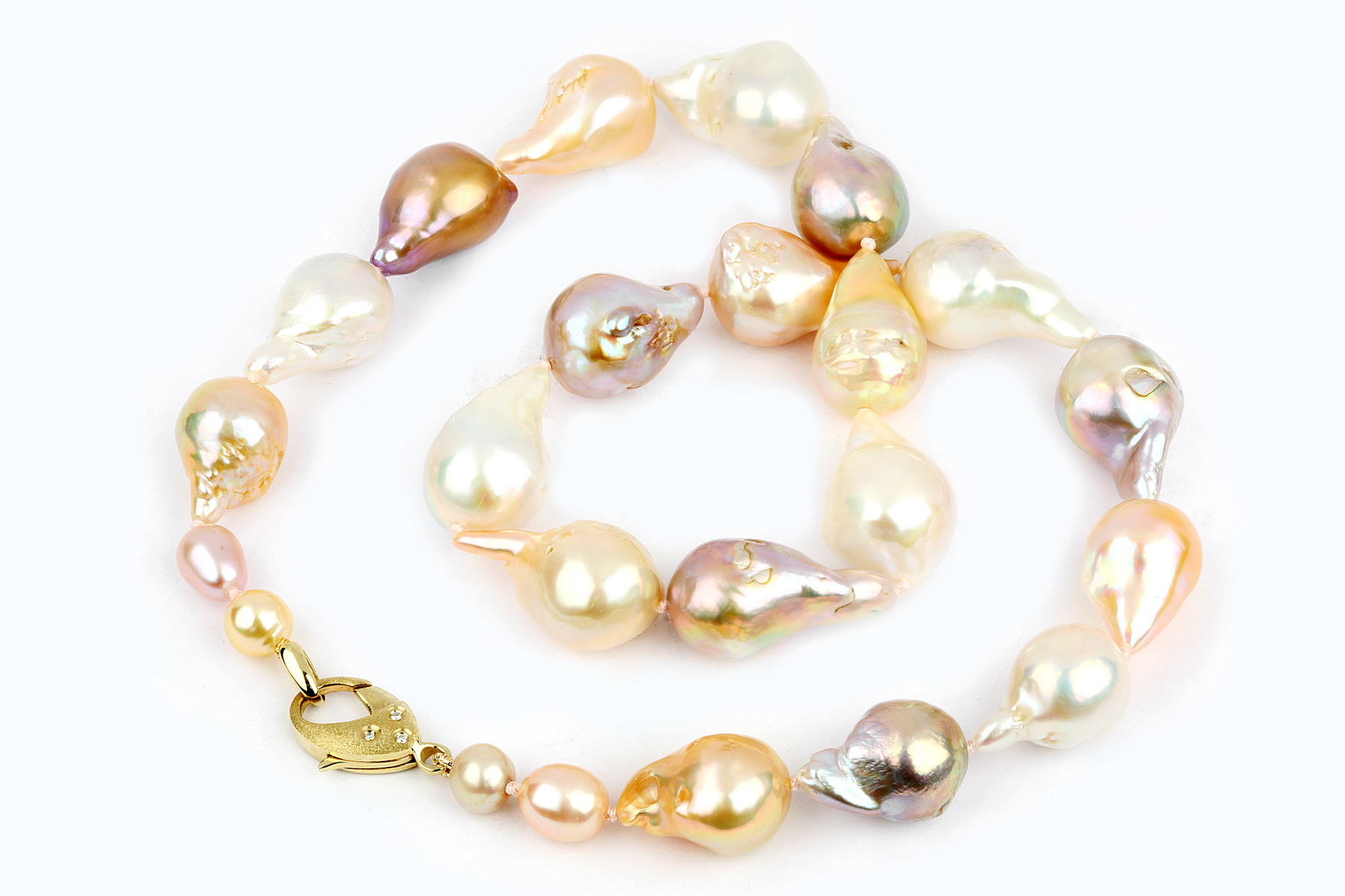 co designer product jewellery pearl colored web pastel pearls necklace neckl used