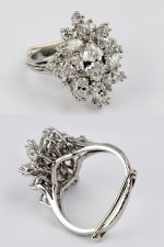 Inherited jewelry, Ring in White Gold with diamonds