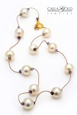 Pearl and Sapphire Bead Necklace