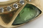 Tsavorite and Diamond Ring