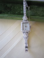 White Gold Watch with Diamonds