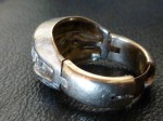 Wedding Ring with a Fingermate Hinging Shank