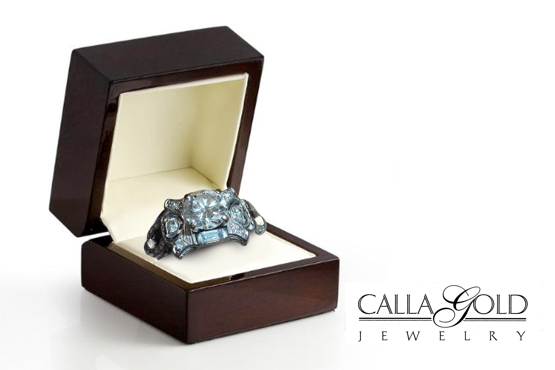 Antique diamond ring revitalized for Cute engagement ring boxes