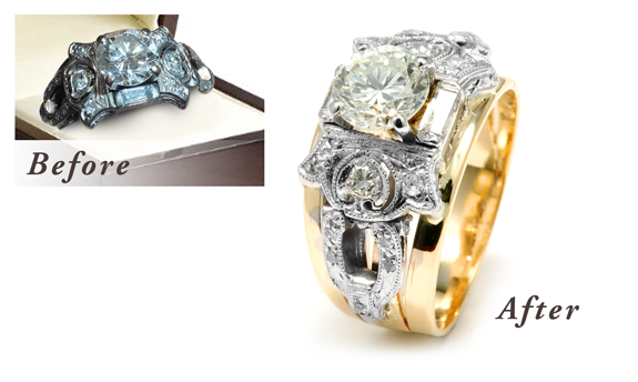 redesigned redesign old armstrong s rings engagement your diamonds catalog laurie a jewelry after