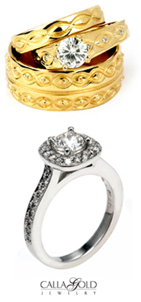 santa barbara wedding rings and engagement rings