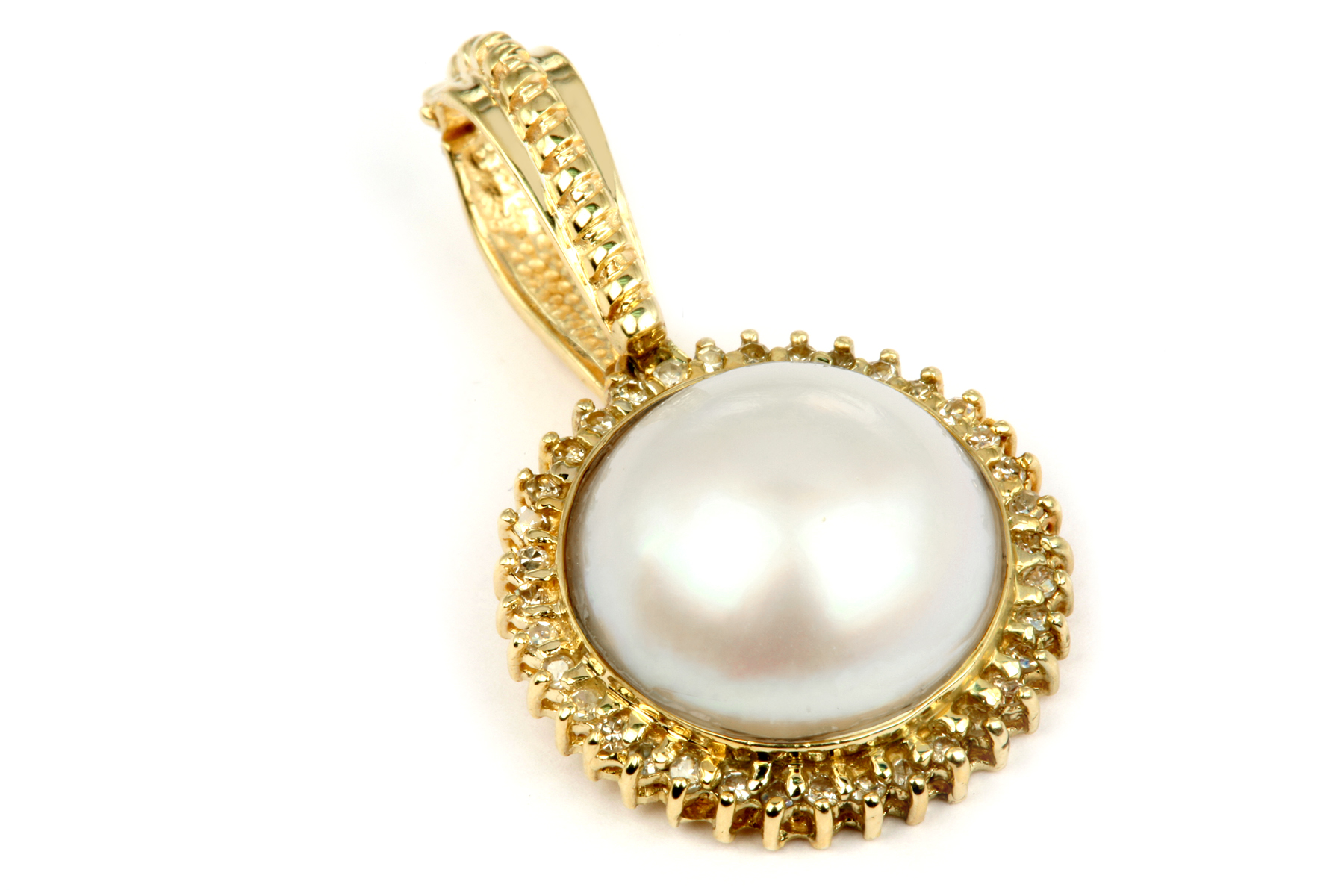 Changing a mabe pearl ring to a pendant annabelles story hinging enhancer bail lets this pearl pendant go onto pearls aloadofball Image collections