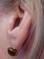 Drooping Earring on ear