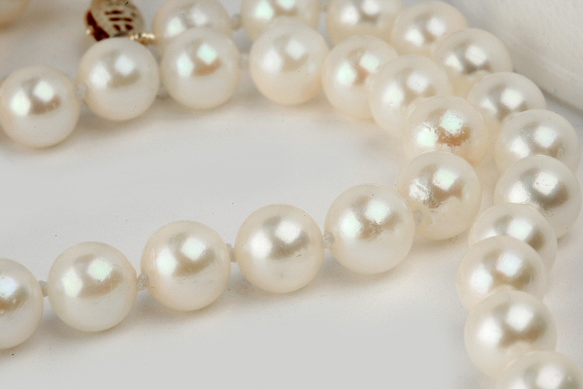 Pearl Necklace After Restring Job