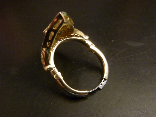 Hinged shank by Fingermate installed by Calla Gold Jewelry