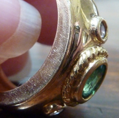 emerald ring scratched