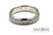 Engraving Inside And Outside Band Ring