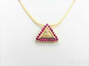 trillian diamond and ruby slide pendant