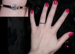 small engagement ring long fingers - Small Wedding Rings