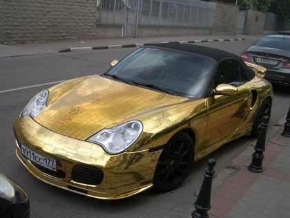 This Gold Plated Porsche Needs to be Kept Clean so The Plating Lasts