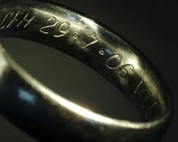 wedding date on inside of ring - Wedding Ring Inscriptions