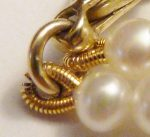 Gold tone French Wire Finish on Pearl Necklace