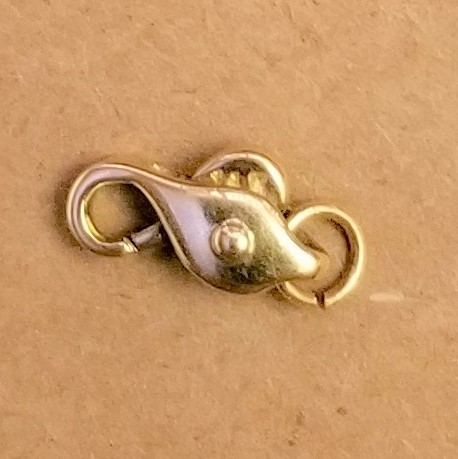 Puah-lock lobster clasp in 14kt yellow gold