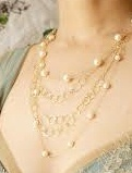 Gold and pearl multi necklaces