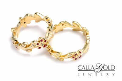 Wedding Jewelry, Two Ring, one thinner, one thicker