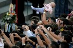 Pope blessing a baby