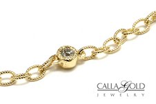 Oval Link Chain With Diamond Eer
