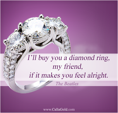Gems of Wisdom Custom Engagement Rings The Beatles