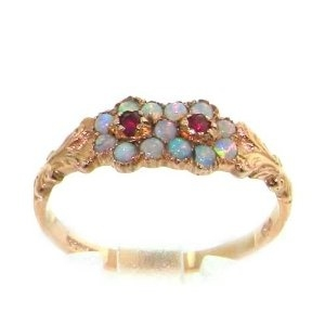 Opal and Ruby Ring Antique