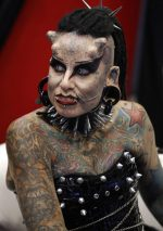 Tattoed to the max woman; personal style