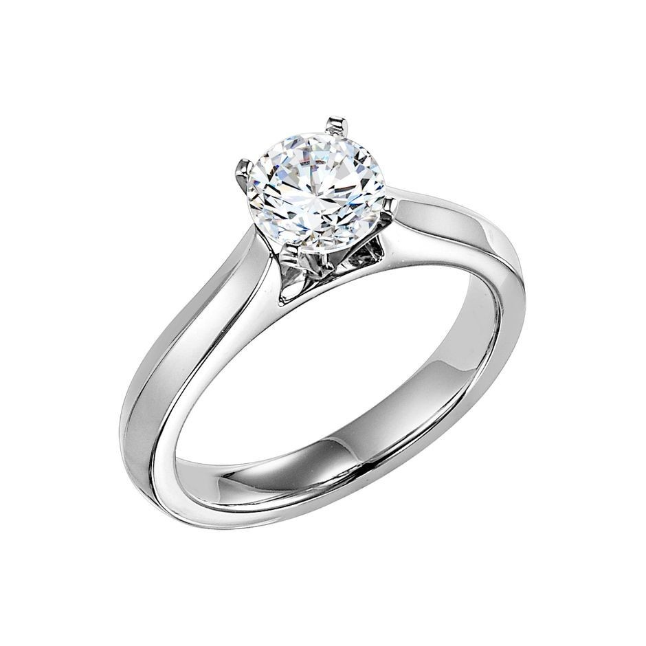Classic Four Prong Setting For Your Round Diamond