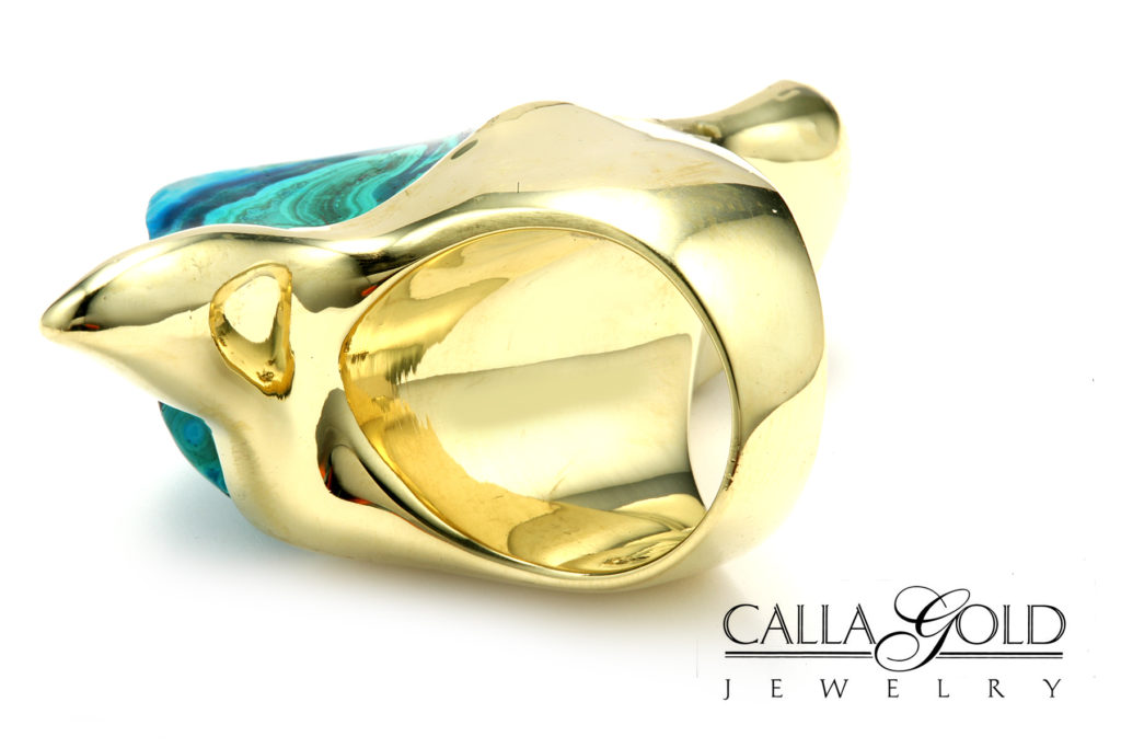 18kt Custom Chacedony ring