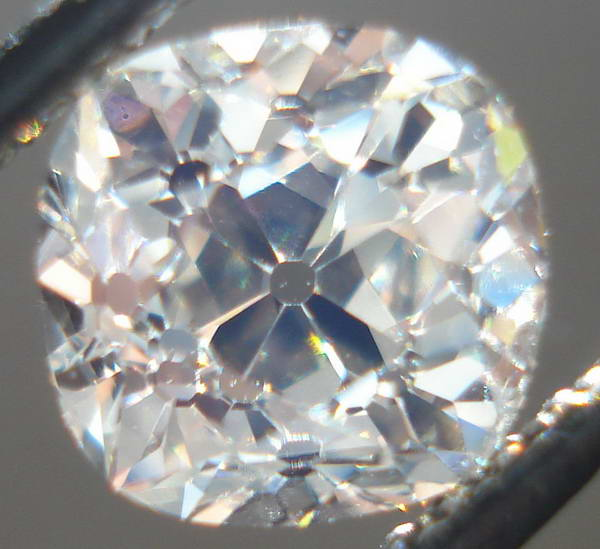 loose mine cut diamond cushion shaped