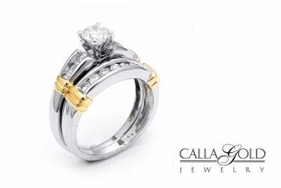 wedding set with two tone - Wedding Ring Vs Engagement Ring