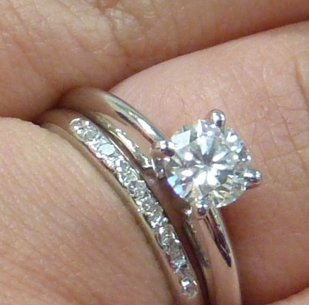 How much does it cost to size my ring? Platinum diamond band and diamond engagement ring