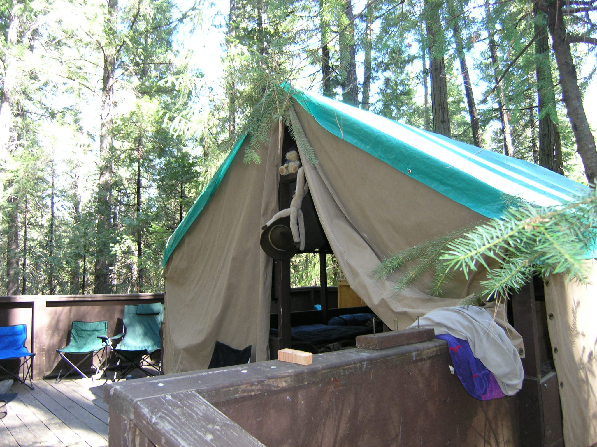 Tent Cabin in Pines, too tight ring story