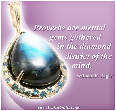 William R. Alger with a Labradorite Pendant quote
