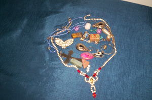 Assorted Costume Jewelry. Many of These Pieces are Unfixable.