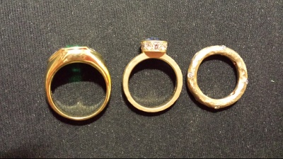 14kt vs 18kt yellow gold color examples