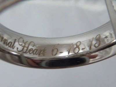 Inscription engraving done by laser