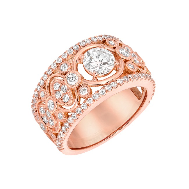 Rose gold the blushing gold for your engagement ring for Do jewelry stores finance engagement rings