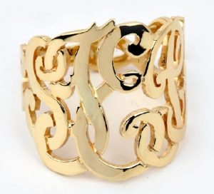 Open work name ring