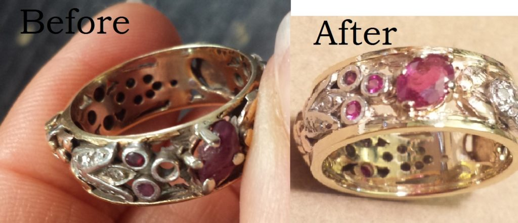 A Much Loved Daily Wear Eternity Band Ring Gets New Life