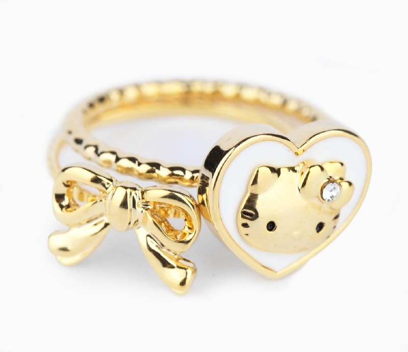 2 Piece Ring Set Big Heart