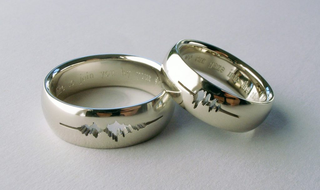 just because you want sound waves or another cool design doesnt mean you - Design Your Wedding Ring