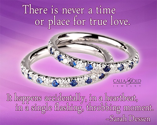 Gems of Wisdom Sarah Dessen Eternity Bands