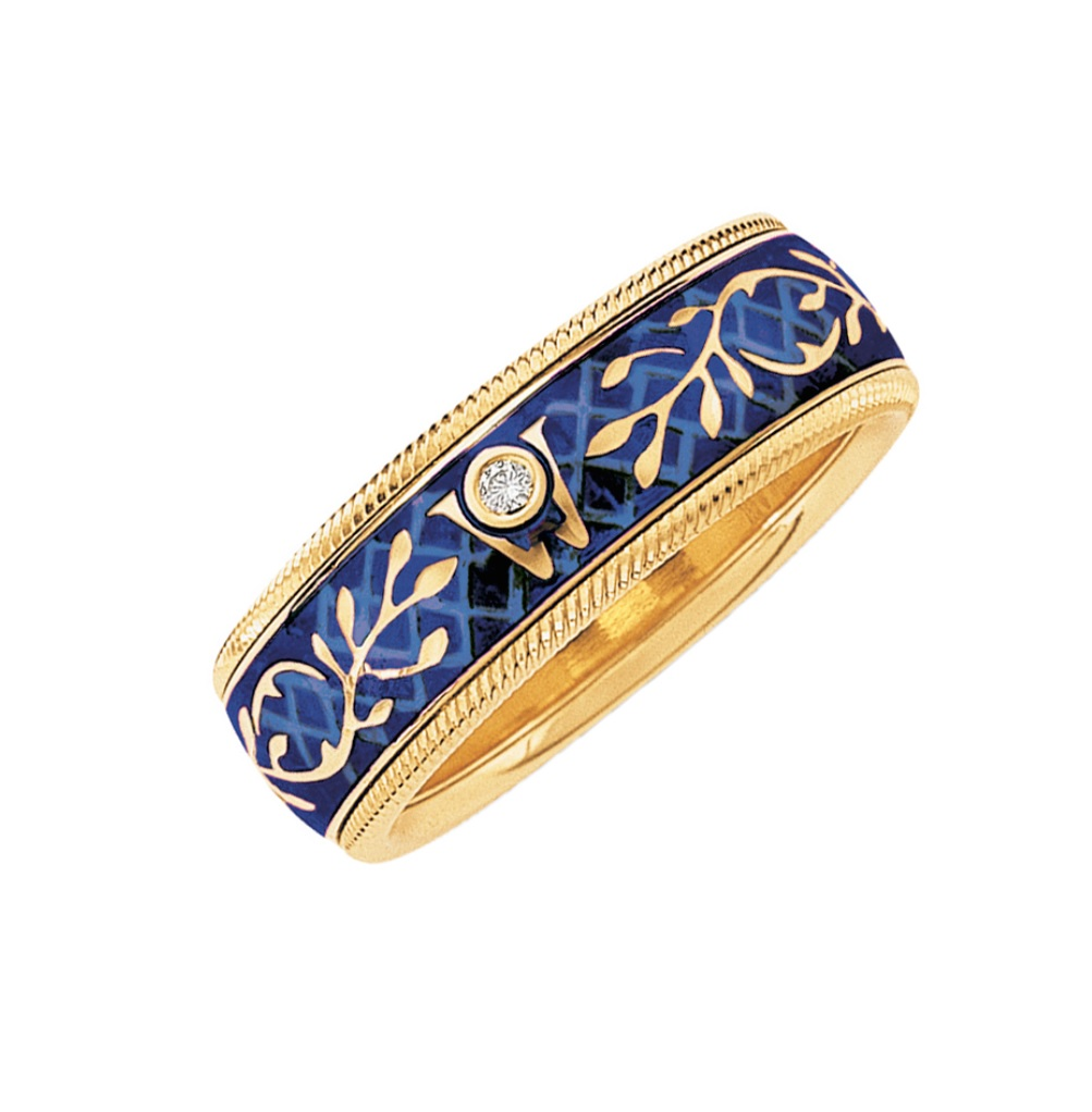 id jewelry enamel band ring z yellow gold at wings eternity j rings diamond wellendorff