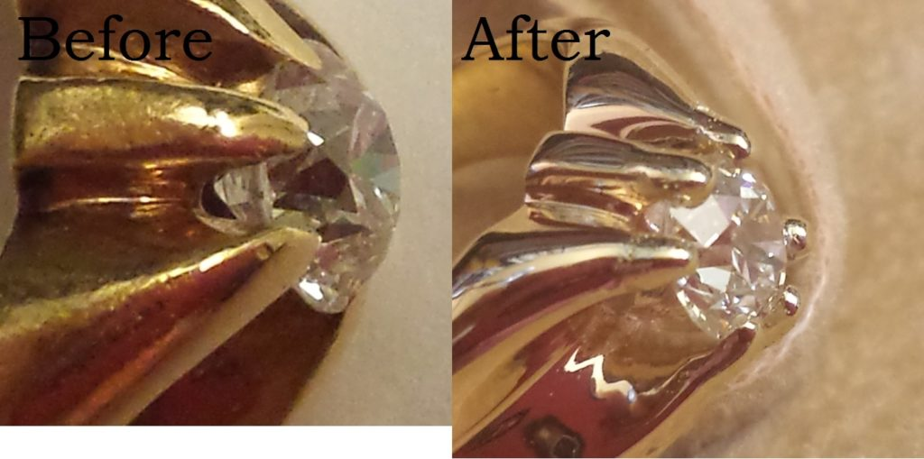 Jewelry Definition - Re-tipping Prongs - Calla Gold Jewelry