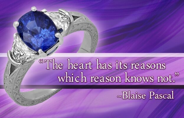 gems of wisdom sapphire ring with hand engraving blaise pascal