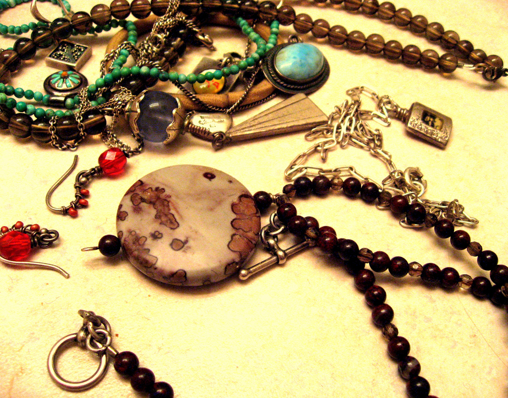 messy pile of jewelry
