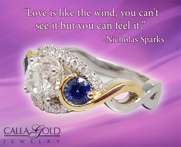 "Gems of Wisdom, Nicholas Sparks ""Love is like the wind, you can't see it but you can feel it."""