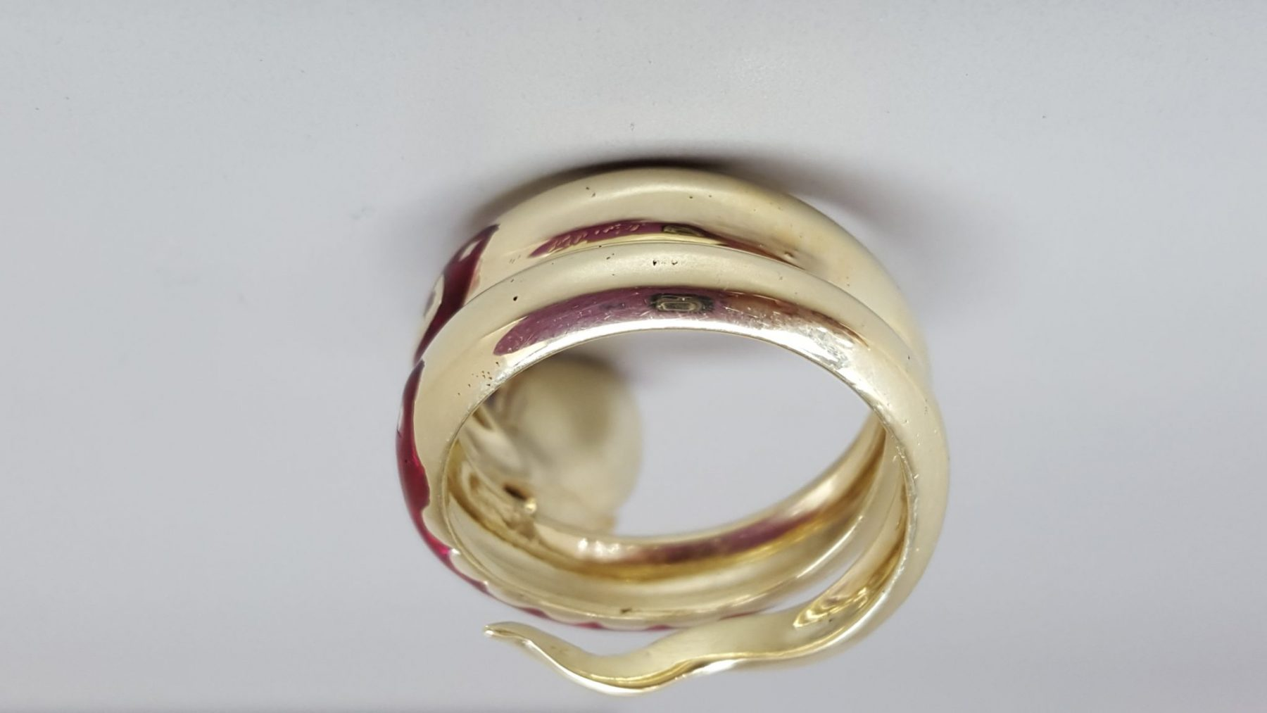 After Porosity Repaired on shank of snake ring
